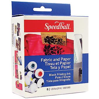 Speedball Fabric & Paper Block Printing Ink Set 6 Colors 3479