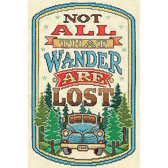 All That Wander Counted Cross Stitch Kit-8