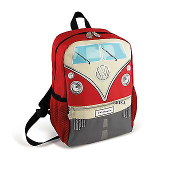 Official VW Camper Van Kids School Backpack Bag - Red