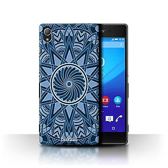 STUFF4 Case/Cover for Sony Xperia Z3+/Plus/Star/Blue/Mandala Art