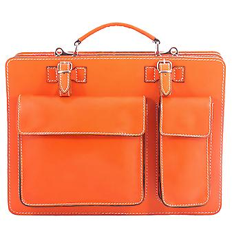 CTM work bag Briefcase 24 hours men's leather made in italy