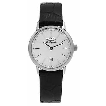 Rotary Womens Les Originales Black Leather LS90050/02 Watch