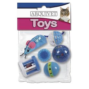 Arquivet Kit 6 Toys For Cats Blue (Cats , Toys , Mice)