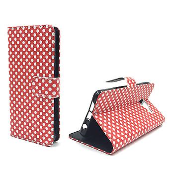 Mobile phone case pouch for mobile Samsung Galaxy A3 (2016) polka dot Red