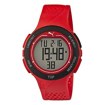 PUMA watch wrist watch unisex red touch Black Digital PU911211002