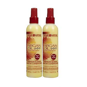 Creme af natur arganolie Leave-in Conditioner 250ml (2-pack)