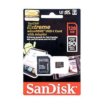 SanDisk 128GB Extreme Micro SDXC UHS-I U3 Card for 4K Ultra Video. SDSQXVF-128G-GN6MA