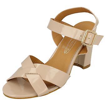 Ladies Spot On High Heel Sandal F10170