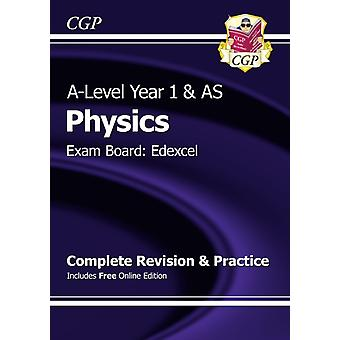 New 2015 A-Level Physics: Edexcel Year 1 & AS Complete Revision & Practice with Online Edition (Paperback) by Cgp Books