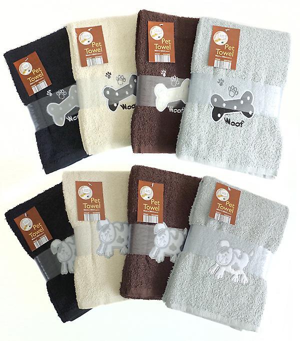 Country Club Pet Towel 60x120cm Grey Dog