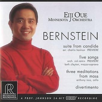 L. Bernstein - Bernstein: Suite fra Candide; Fem sange; Tre meditationer fra massen; Divertimento [CD] USA importerer