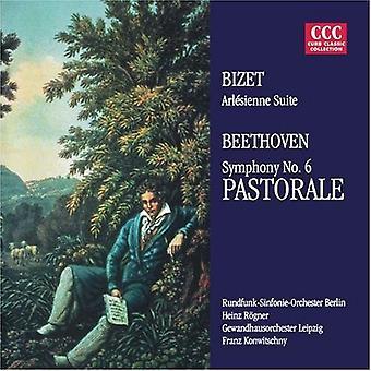 Bizet/Beethoven/Konwitschny/Rogner - Bizet: L'Arl Sienne Suite nr 2; Beethoven: Symfoni nr 6 Pastorale [CD] USA import