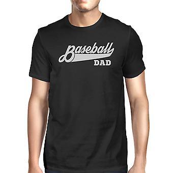 Honkbal papa Mens zwart katoenen T-Shirt grappige giften voor honkbal papa