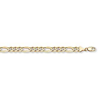 14K guld Figaro Link armbånd (6mm)