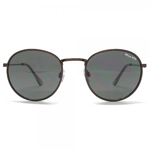 Miss KG Metal Round Sunglasses In Shiny Dark Brown