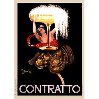 Contratto Champagne Italy Poster Print Giclee