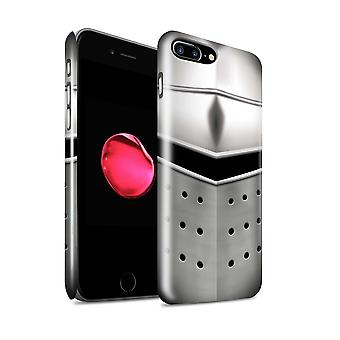 STUFF4 Glanz zurück Snap-On Handy Hardcase für Apple iPhone 7 Plus / Pigface Helm Design / Ritter Armour Kollektion