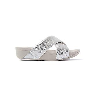 FitFlop Women's Swoop Slide Sandals - Silver