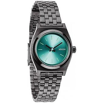 Nixon The Small Time Teller Watch - Gunmetal/Light Blue