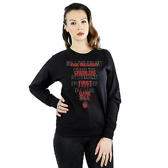 Star Wars Women's The Last Jedi Dark Side Echo Sweatshirt