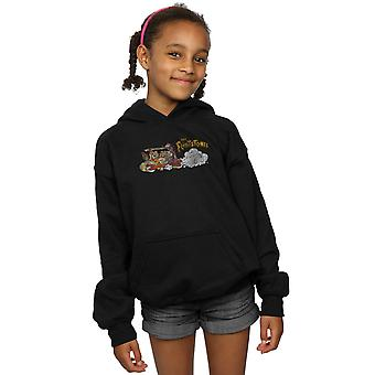 The Flintstones Girls Family Car Distressed Hoodie