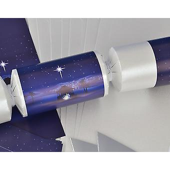 8 Pearl Nativity Night Christmas Make & Fill Your Own Crackers Kit