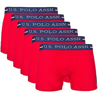 Pack of 6 U.S. POLO ASSN. Premium cotton boxers of Boxer shorts Red