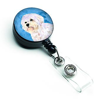 Maltese  Retractable Badge Reel or ID Holder with Clip SS4757