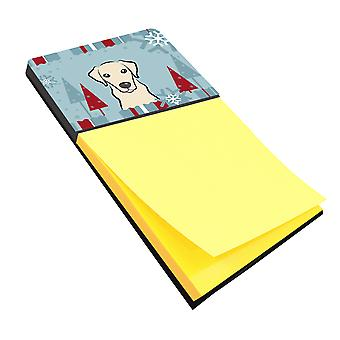 Carolines Treasures  BB1718SN Winter Holiday Yellow Labrador Sticky Note Holder