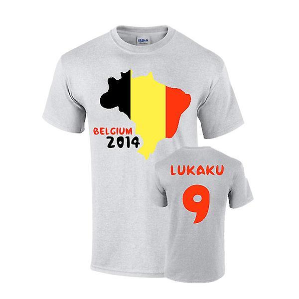 Belgique 2014 Pays T-shirt de drapeau (Lukaku 9)