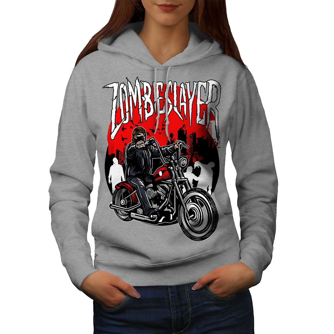 Zombie Slayer Ride Biker femmes grisHoodie