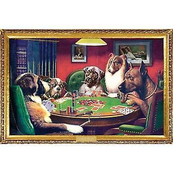 Coolidge Hunde - Kelly Poker Poster drucken (24 x 36)