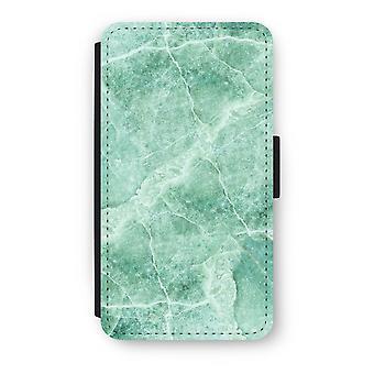 Samsung Galaxy A3 (2017) Flip Case - grønn marmor
