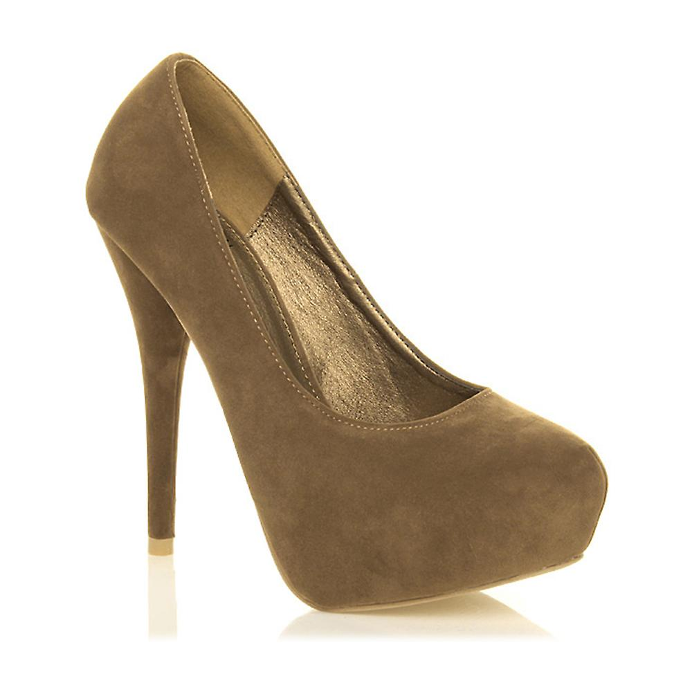 Ajvani womens high heel party smart work evening concealed platform court shoes pumps