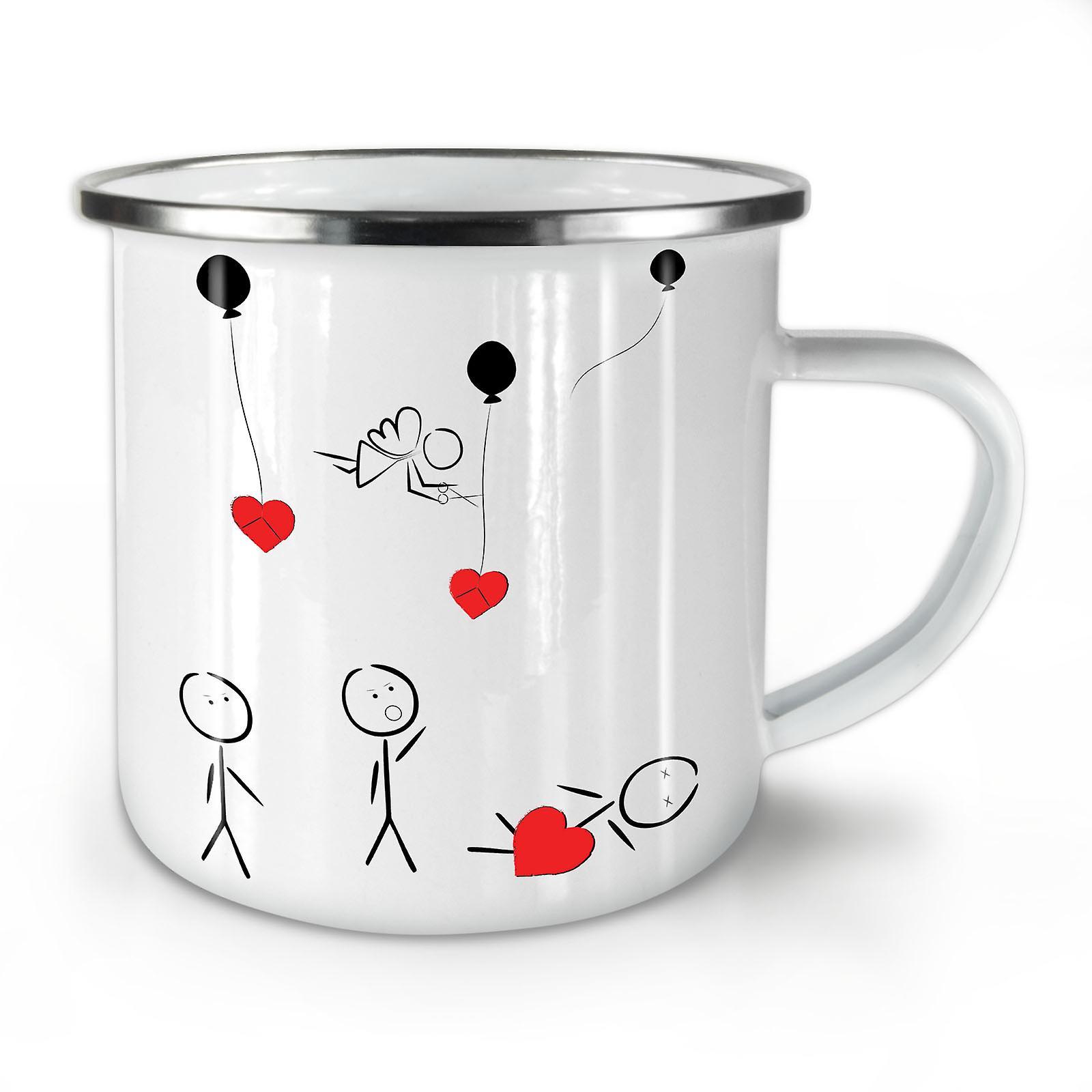 OzWellcoda Coffee Guy Funny Stick Love Whitetea Enamel New Mug10 SVpjzLMGUq