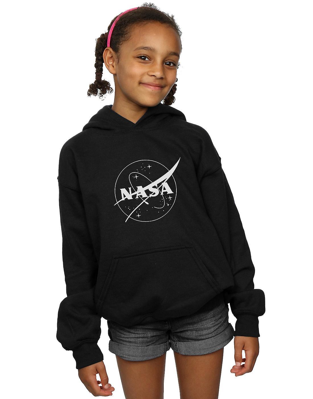 La NASA filles insigne classique Logo Monochrome Hoodie