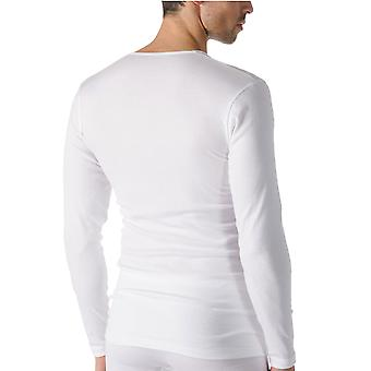 Mey 49104-101 Men's Casual Cotton White Solid Colour Long Sleeve Top