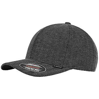 Flexfit herringbone melange Cap - Black / heather grey