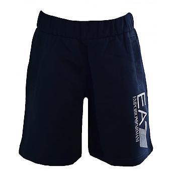 EA7 Boys EA7 Kids Navy Blue Cotton Shorts