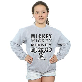 Disney Girls Mickey Mouse Sitting Sweatshirt
