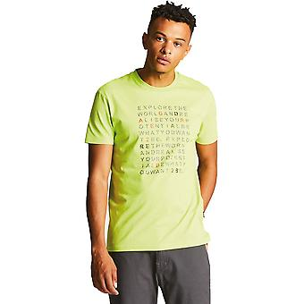 Dare 2b Mens versos Casual algodón ajuste gráfico Logo T camisa