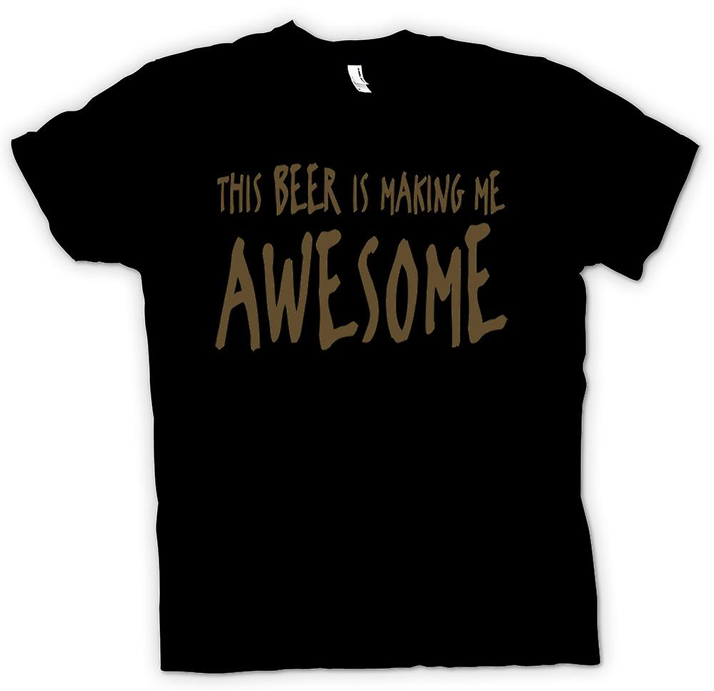 Womens T-shirt - This Beer Is Making Me Awesome - Quote