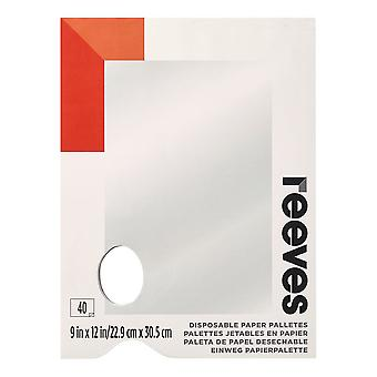 Reeves Disposable Paper Tear Off Palettes 9 x 12