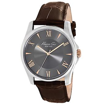 Kenneth Cole New York men's wrist watch analog quartz leather KC1995