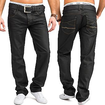 Men's Regular Fit Jeans Gray Colored Gloss Pants 100% Cotton W34 - W44