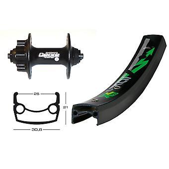 Bike parts 26″ wheel Exal XL 25 disc + SHIMANO DEORE 6-hole (QR)