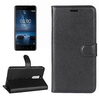 Pocket wallet Deluxe black for Nokia 8 2017 protection sleeve cover case pouch