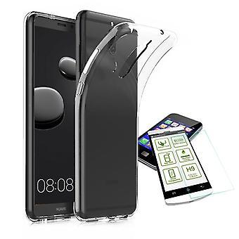 Silikoncase trasparente + 0,3 H9 vetro temperato per caso tasca di Huawei mate 10 nuovo