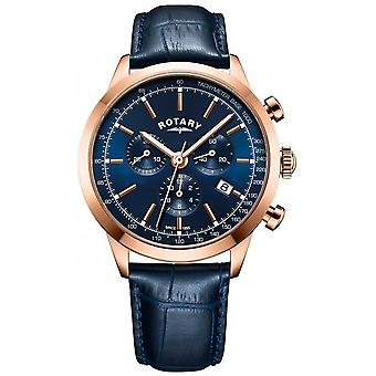 Rotary Men's Cambridge Chronograph Blue Leather GS05257/05 Watch