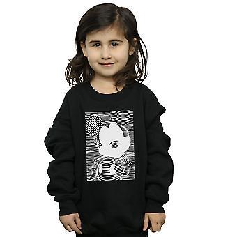 Disney Girls Mickey Mouse Lines Sweatshirt